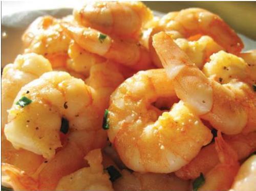 boiled shrimp in bowl